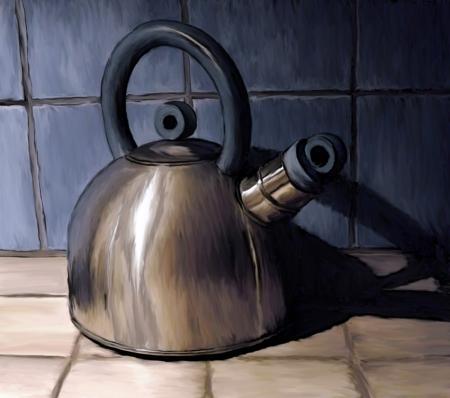 Bouilloire sur céramique