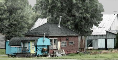 Aménagement roulotte-maison-grange
