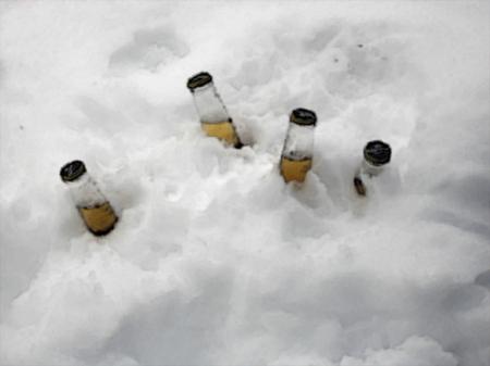 corona dans la neige