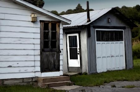Porte arrière et garage
