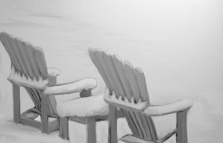 Chaises d'été au printemps