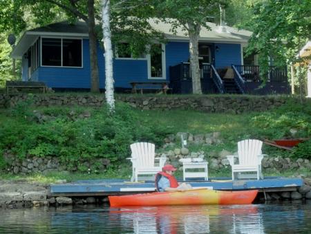 Joies de l'été au lac.