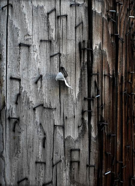 textures de bois et broches