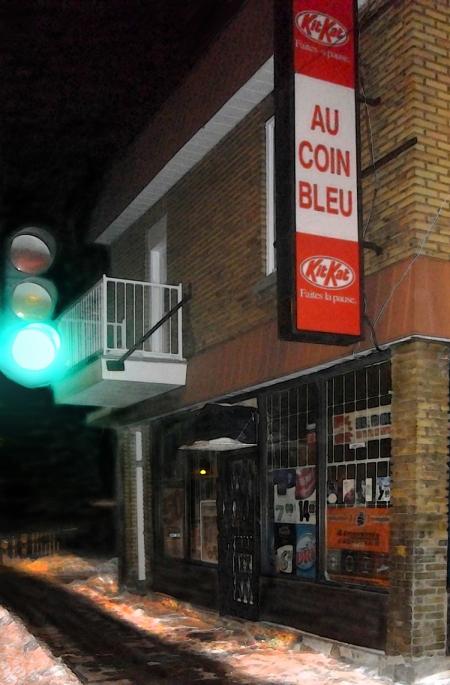 Au coin bleu
