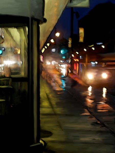 Gare d'autocars rue berri sous la pluie